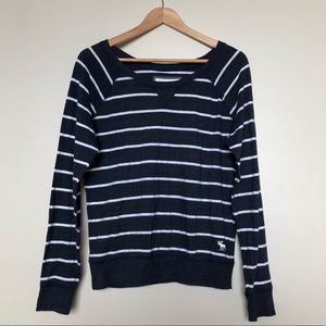 Navy and White Striped Sweater, M II Abercrombie
